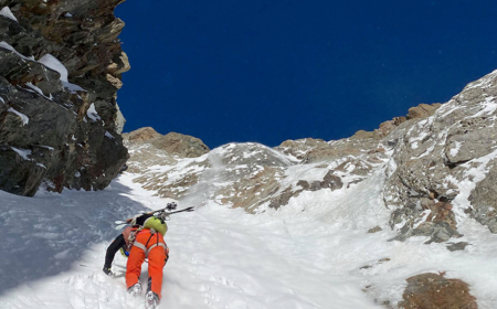 Z výstupu na Tête Carrée (3.232 m n. m.) Foto: Paul Bonhomme a Vivian Bruchez