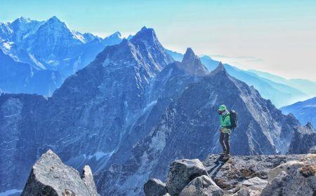 Luza Peak (5.726 m n. m.) v Nepálu vylezený týmem Pemba Sharwa Sherpa, Urken Lendu Sherpa a Lhakpa Gyaljen Sherpa, Foto: Pemba Sharwa Sherpa archiv