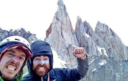 Matías Korten a Seán Villanueva na vrcholu El Mocho. Foto: Matías Korten