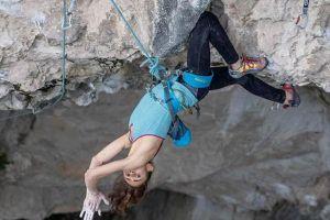 Laura Rogora v cestě Pure Dreaming (9a), Massone, Arco, foto: Sara Grippo