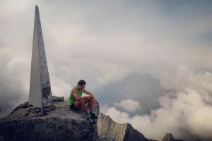 Filip Babicz na vrcholu Pic Badile, foto: Vittorio Scartazzini
