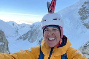 Chantal Astorga během sólo výstupu na Denali, foto: Chantal Astorga