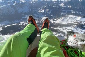 Simon Gietl na vrcholu Heiligkreuzkofelu, Foto: Simon Gietl
