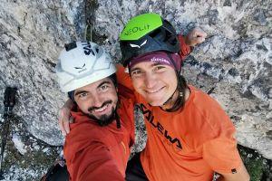 Manuel a Simon Gietl po prvovýstupu cesty Streichelzoo (7), foto: Manuel Gietl