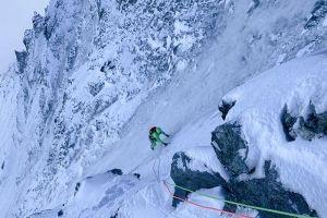 Simon Gietl v severní stěně Matterhornu, foto: Roger Schäli