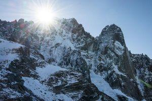 Aiguille Verte e Petit Dru v masivu Mont Blanc, foto: Frank Kretschmann