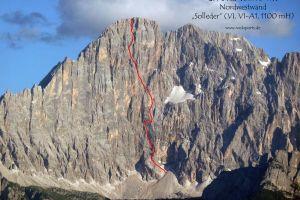 Monte Civetta a cesta Solleder – Lettenbauer, Zdroj: forum.rocksports.de
