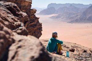 Na jednom z Jebelů v jordánském Wadi Rum