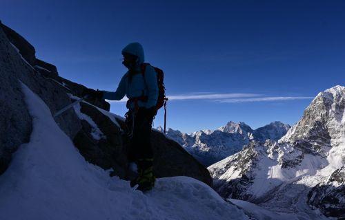 Miri pří výstupu na Lobuche East (6119 m)
